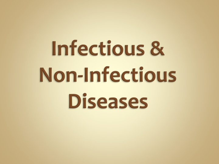 infectious non infectious diseases n.