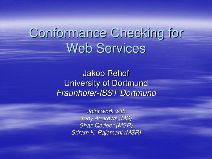 conformance checking for web services n.