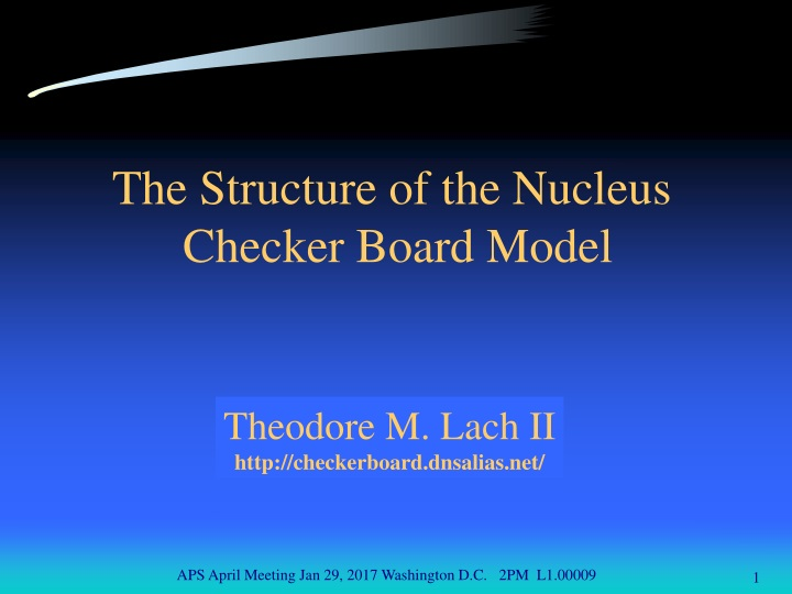 the structure of the nucleus checker board model n.