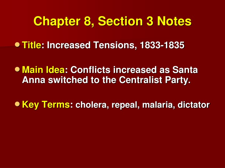 chapter 8 section 3 notes n.
