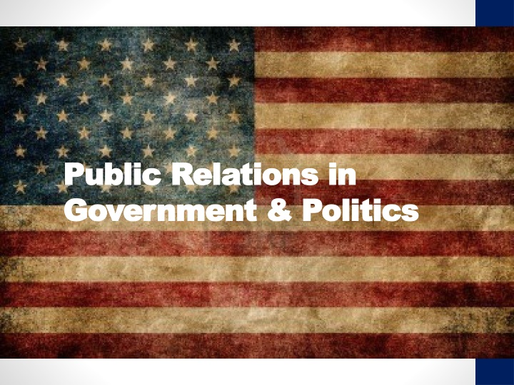 public relations in government politics n.