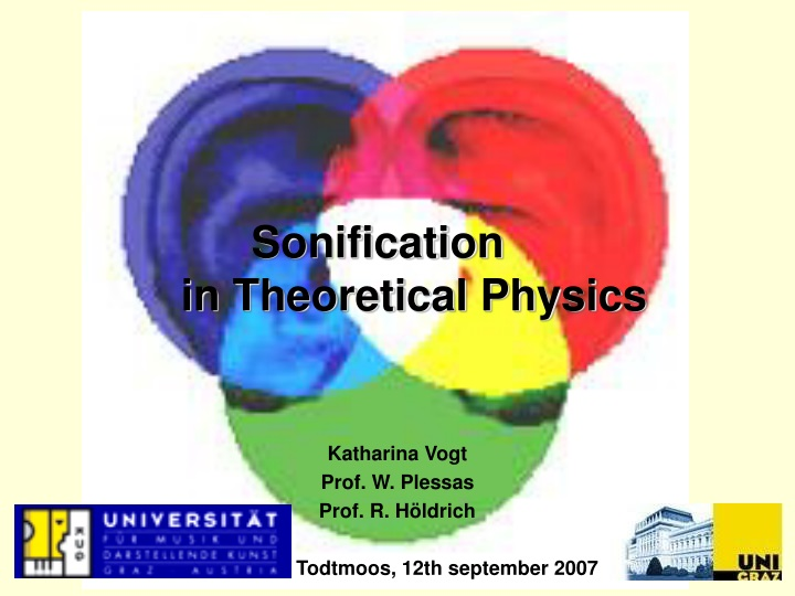 sonification in theoretical physics n.