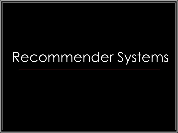 recommender systems n.