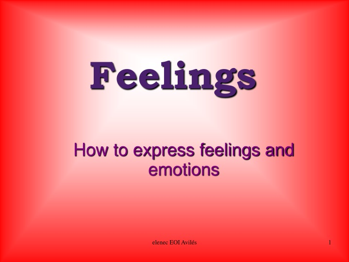 how to express feelings and emotions n.