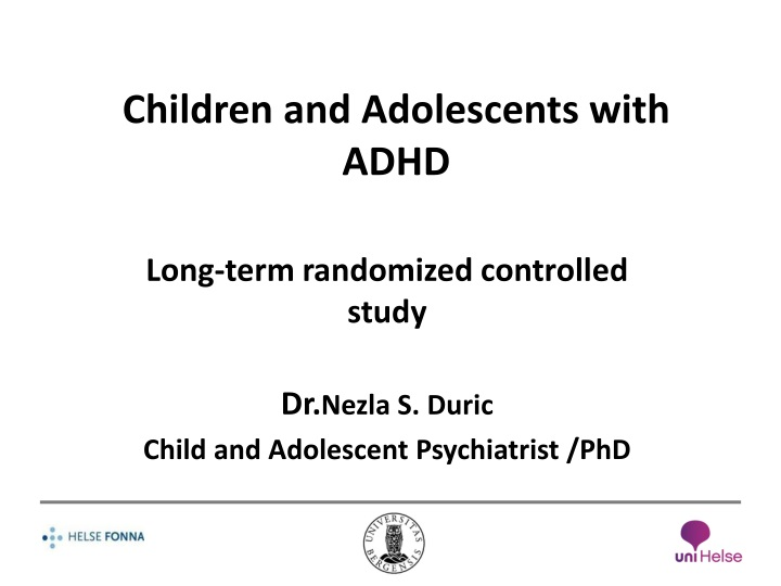 children and adolescents with adhd n.