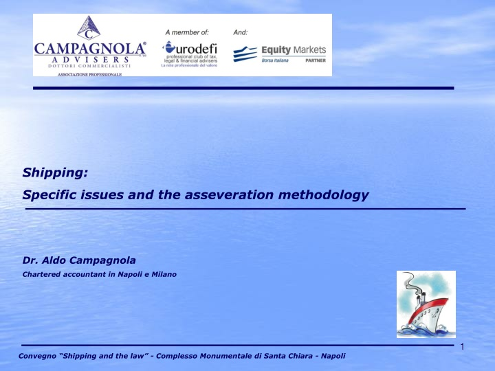shipping specific issues and the asseveration n.