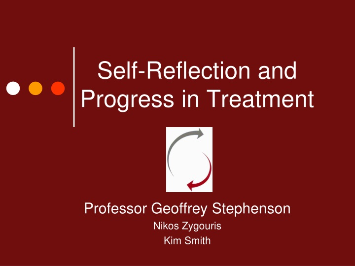 self reflection and progress in treatment n.