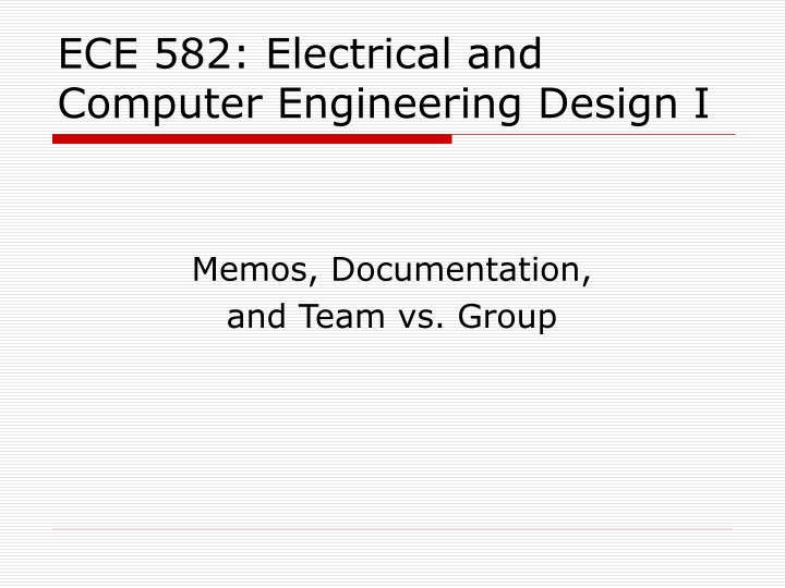 ece 582 electrical and computer engineering design i n.