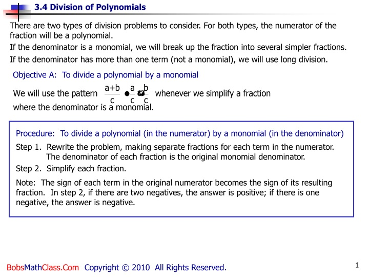 there are two types of division problems n.