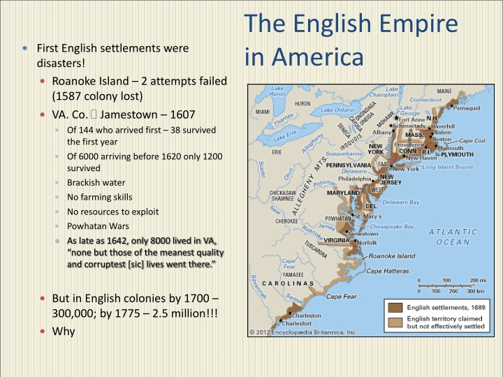 the english empire in america n.