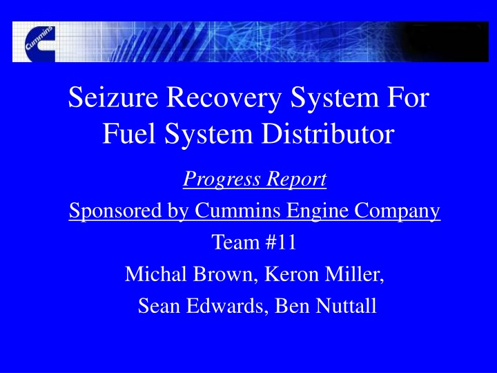 seizure recovery system for fuel system distributor n.