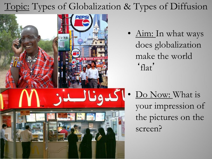 topic types of globalization types of diffusion n.
