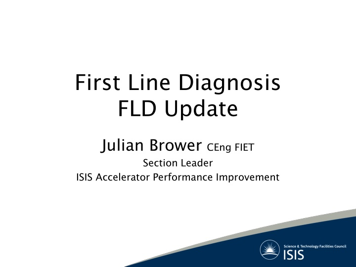 first line diagnosis fld update n.