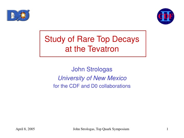 study of rare top decays at the tevatron n.
