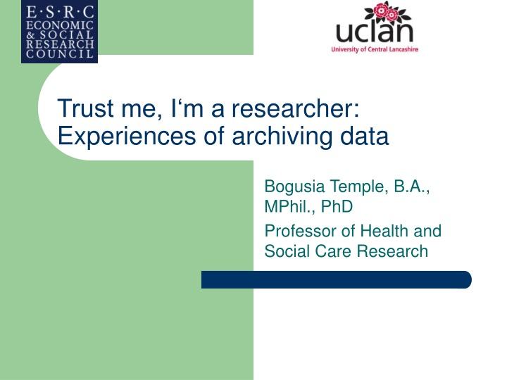 trust me i m a researcher experiences of archiving data n.