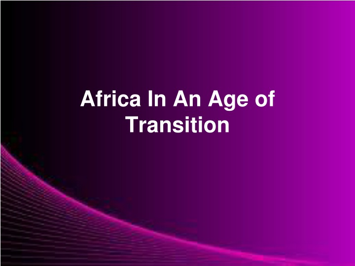 africa in an age of transition n.