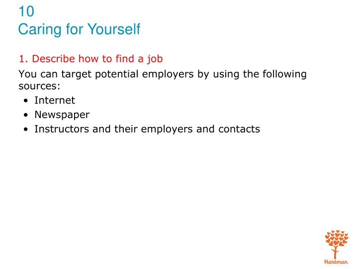1 describe how to find a job n.