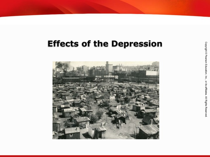 effects of the depression n.