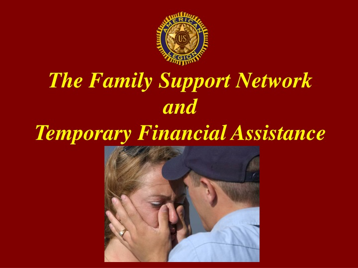 the family support network and temporary financial assistance n.