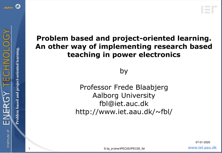 problem based and project oriented learning n.