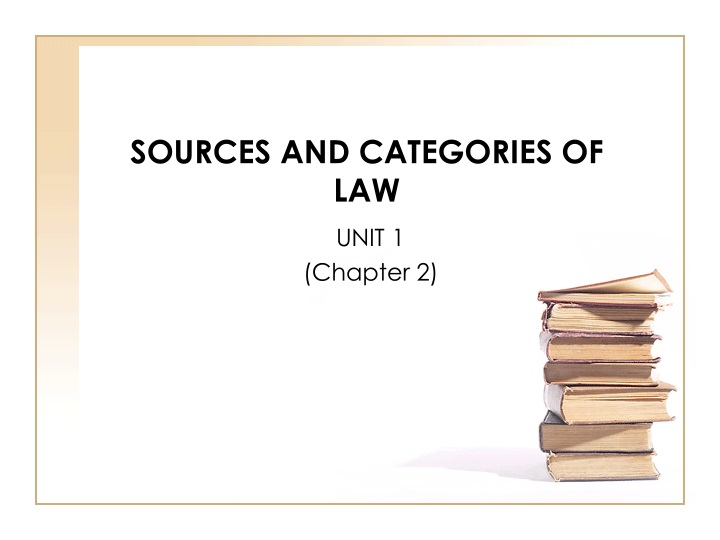sources and categories of law n.