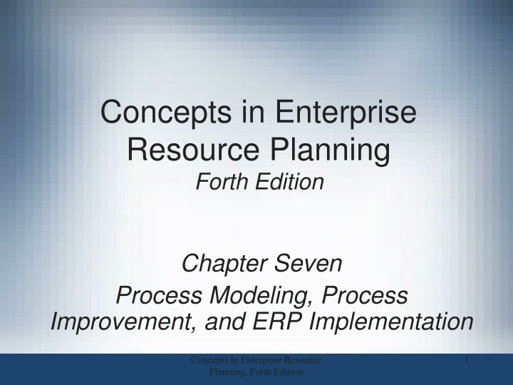 concepts in enterprise resource planning forth edition n.