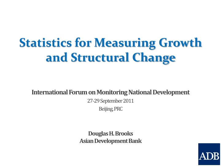 statistics for measuring growth and structural change n.