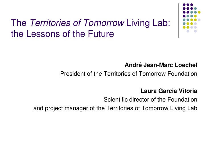 the territories of tomorrow living lab the lessons of the future n.