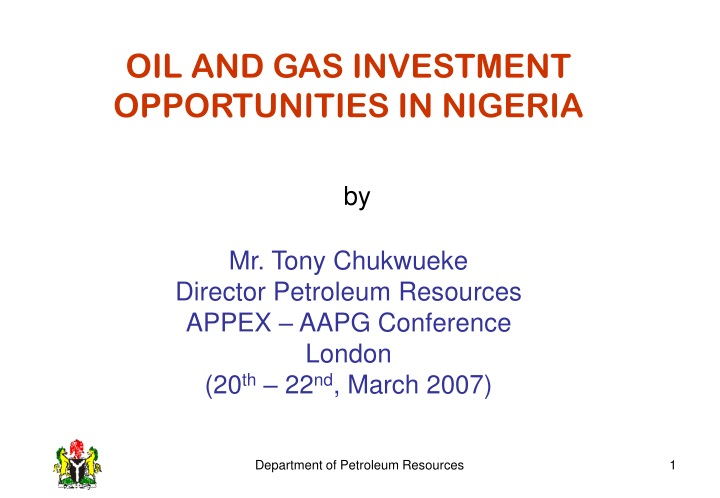 oil and gas investment opportunities in nigeria n.