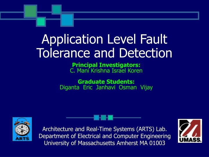 application level fault tolerance and detection n.
