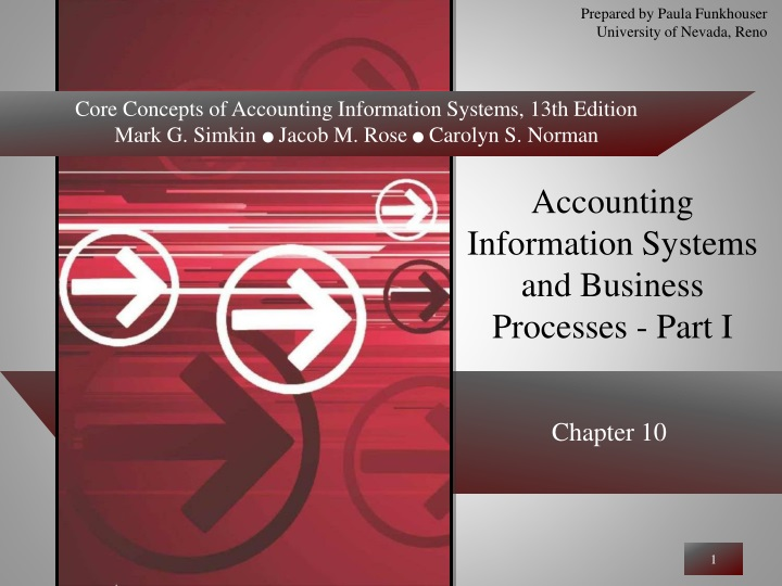 accounting information systems and business processes part i n.