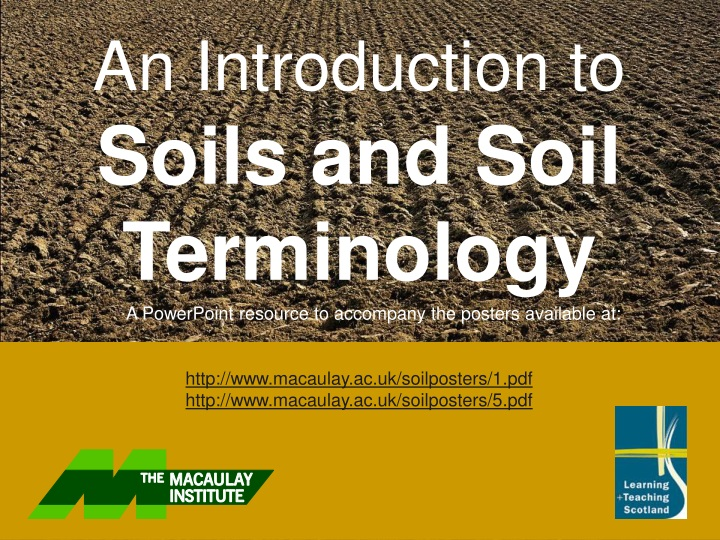 an introduction to soils and soil terminology n.
