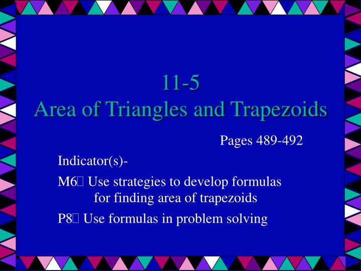 11 5 area of triangles and trapezoids n.