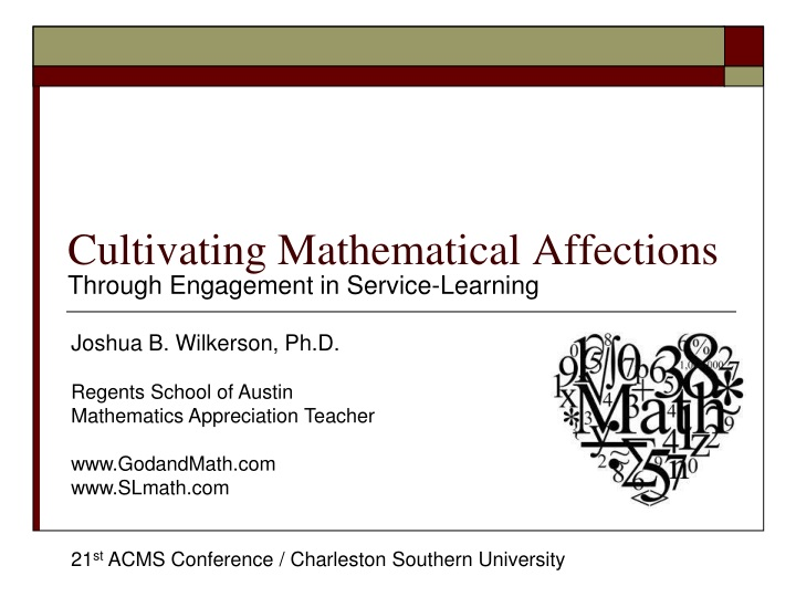 cultivating mathematical affections n.