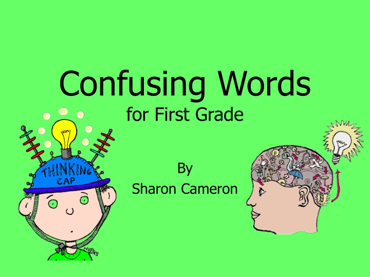 confusing words for first grade n.