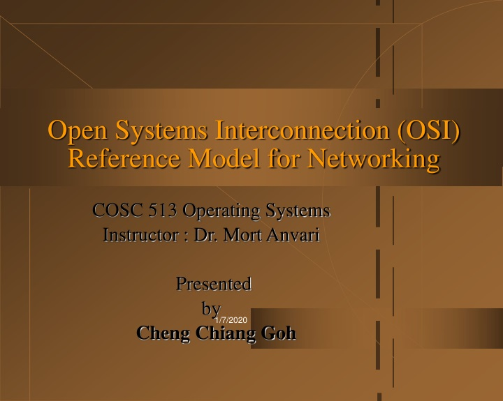 open systems interconnection osi reference model for networking n.