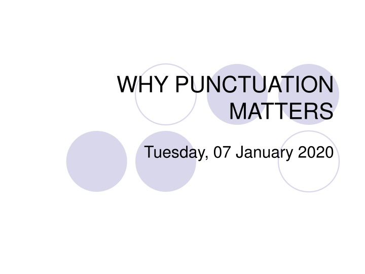 why punctuation matters n.