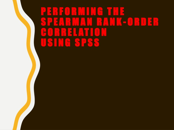 performing the spearman rank order correlation using spss n.