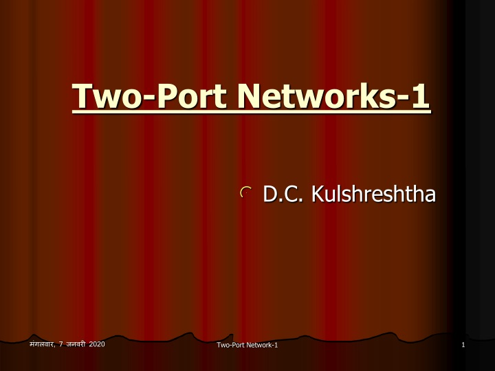 two port networks 1 n.