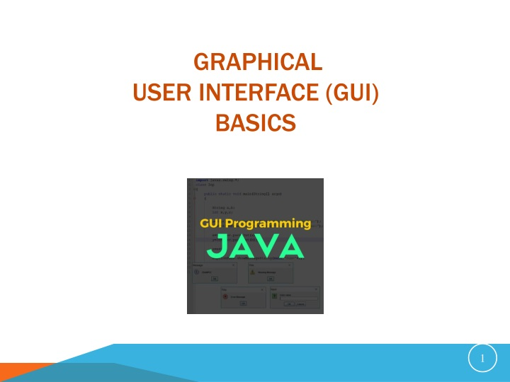 graphical user interface gui basics n.