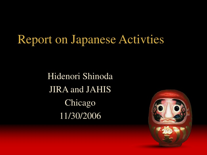 report on japanese activties n.
