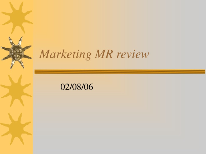 marketing mr review n.