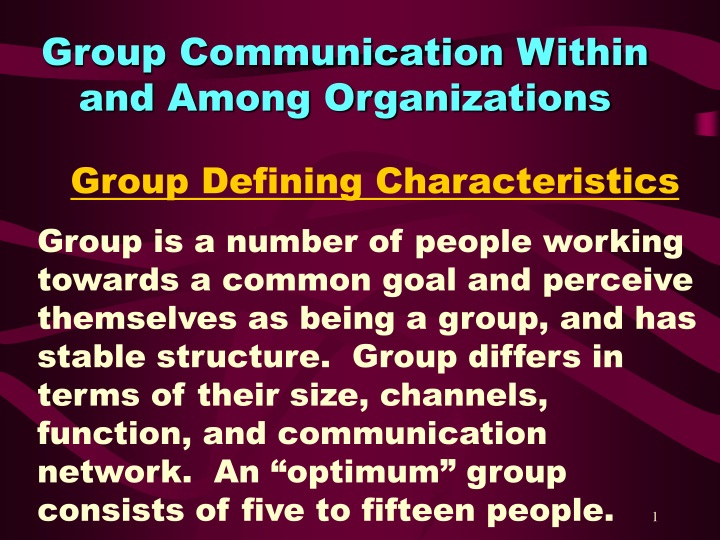 group communication within and among organizations n.
