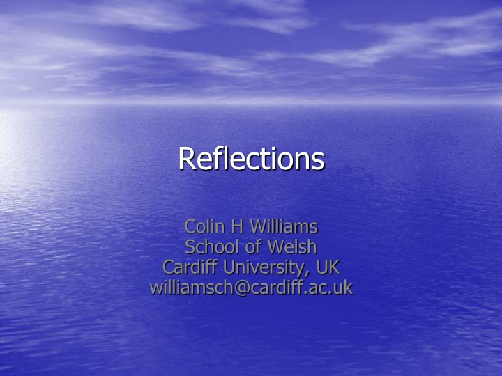 reflections n.