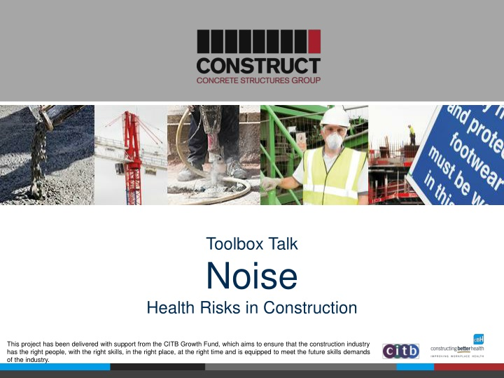 toolbox talk noise health risks in construction n.