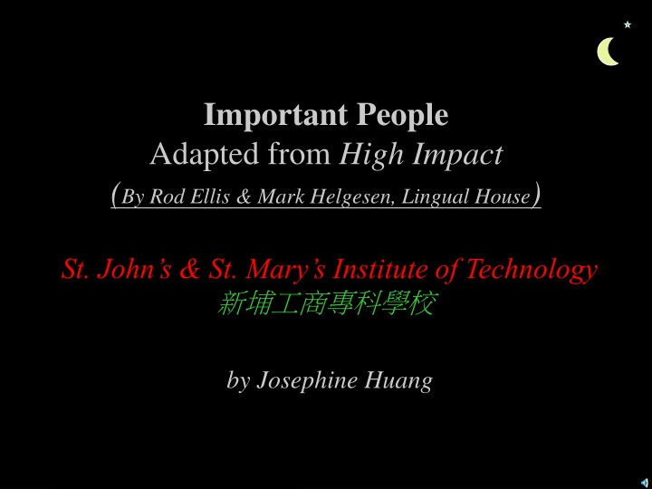 important people adapted from high impact n.