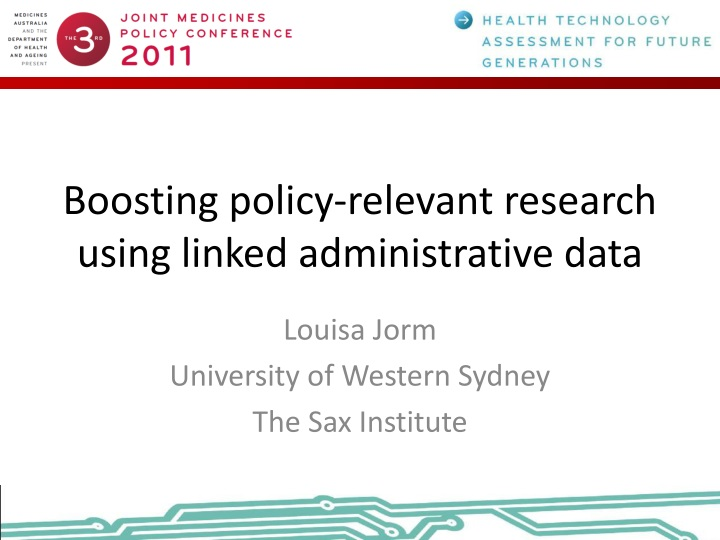 boosting policy relevant research using linked administrative data n.