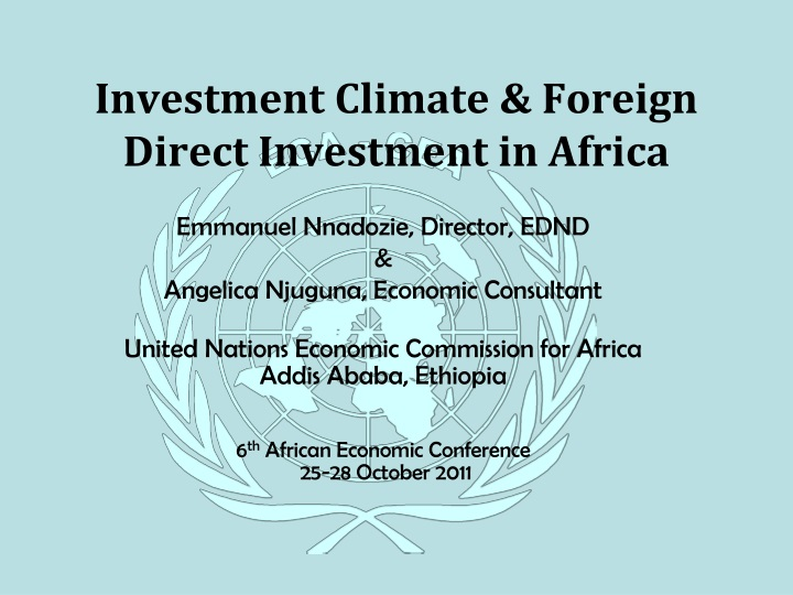 investment climate foreign direct investment in africa n.