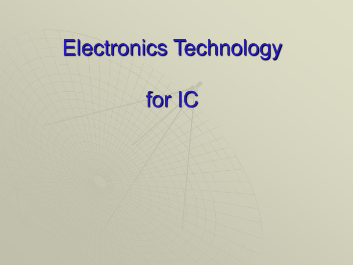 electronics technology for ic n.