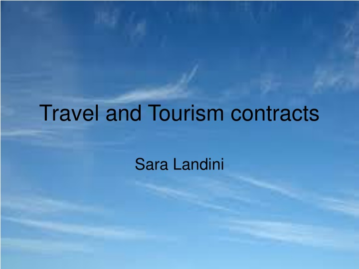 travel and tourism contracts n.
